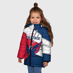 Детская зимняя куртка для девочки с принтом Washington Capitals, цвет: 3D-черный, артикул: 10152813106065 — фото 2