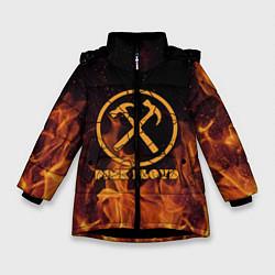 Куртка зимняя для девочки Pink Floyd цвета 3D-черный — фото 1