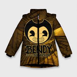 Куртка зимняя для девочки Black Bendy цвета 3D-черный — фото 1