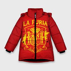 Куртка зимняя для девочки La Furia цвета 3D-черный — фото 1