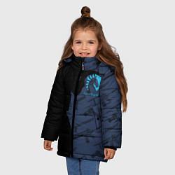Детская зимняя куртка для девочки с принтом CS:GO Team Liquid, цвет: 3D-черный, артикул: 10154948506065 — фото 2