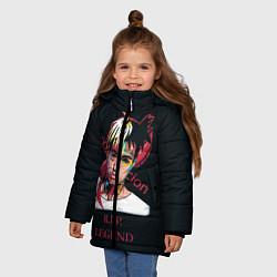 Куртка зимняя для девочки XXXTentacion: RIP Legend цвета 3D-черный — фото 2