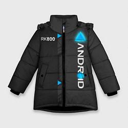 Куртка зимняя для девочки RK800 Android цвета 3D-черный — фото 1