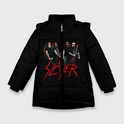 Куртка зимняя для девочки Slayer Band цвета 3D-черный — фото 1