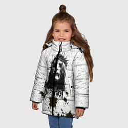 Куртка зимняя для девочки Slipknot Demon цвета 3D-черный — фото 2