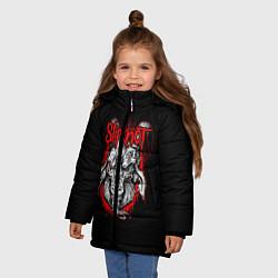 Куртка зимняя для девочки Slipknot Goat цвета 3D-черный — фото 2