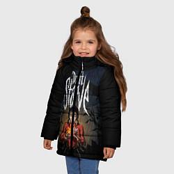 Куртка зимняя для девочки Willow Halloween цвета 3D-черный — фото 2