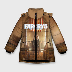 Куртка зимняя для девочки Far Cry 5 цвета 3D-черный — фото 1
