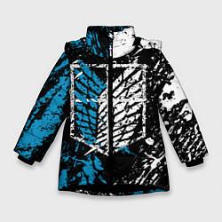 Куртка зимняя для девочки Разведкорпус цвета 3D-черный — фото 1