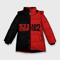 Куртка зимняя для девочки RDD 2: Black & Red цвета 3D-черный — фото 1