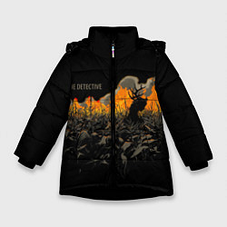 Куртка зимняя для девочки True Detective: Fire цвета 3D-черный — фото 1