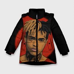 Куртка зимняя для девочки XXXTentacion: Red Sun цвета 3D-черный — фото 1