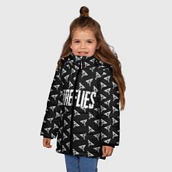 Куртка зимняя для девочки Fireflies цвета 3D-черный — фото 2
