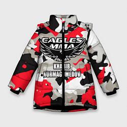 Куртка зимняя для девочки Khabib Nurmagomedov: Red Camo цвета 3D-черный — фото 1