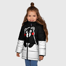 Куртка зимняя для девочки Kumamon Surprised цвета 3D-черный — фото 2