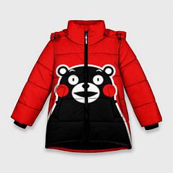 Куртка зимняя для девочки Kumamon Smile цвета 3D-черный — фото 1