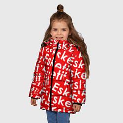 Куртка зимняя для девочки Esketit Pattern цвета 3D-черный — фото 2