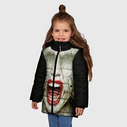 Куртка зимняя для девочки AHS: Scream цвета 3D-черный — фото 2