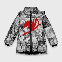 Куртка зимняя для девочки Fairy Tail: Stories цвета 3D-черный — фото 1