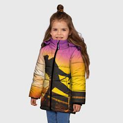 Куртка зимняя для девочки Bohemian Rhapsody цвета 3D-черный — фото 2