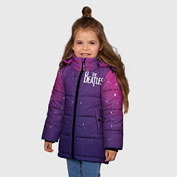 Куртка зимняя для девочки The Beatles: Neon Style цвета 3D-черный — фото 2