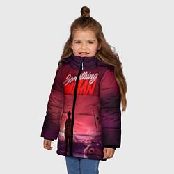 Куртка зимняя для девочки Muse: Something Human цвета 3D-черный — фото 2