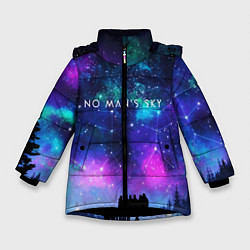 Куртка зимняя для девочки No Man's Sky: Space Vision цвета 3D-черный — фото 1
