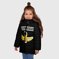 Куртка зимняя для девочки Brazzers: Black Banana цвета 3D-черный — фото 2
