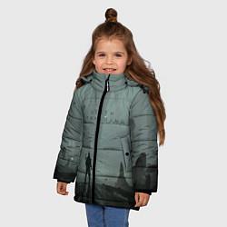 Куртка зимняя для девочки Death Stranding цвета 3D-черный — фото 2