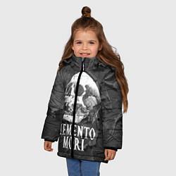 Куртка зимняя для девочки Memento Mori цвета 3D-черный — фото 2