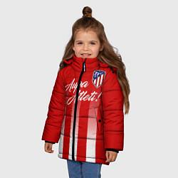 Куртка зимняя для девочки Aupa Atleti цвета 3D-черный — фото 2