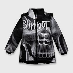 Куртка зимняя для девочки Slipknot Death цвета 3D-черный — фото 1