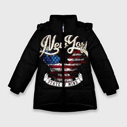 Куртка зимняя для девочки New York, state of mind цвета 3D-черный — фото 1
