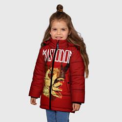 Детская зимняя куртка для девочки с принтом Mastodon: Leviathan, цвет: 3D-черный, артикул: 10172762506065 — фото 2