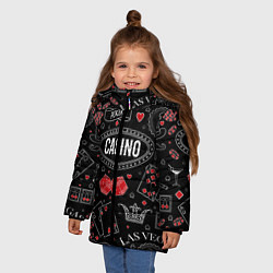 Куртка зимняя для девочки Casino цвета 3D-черный — фото 2