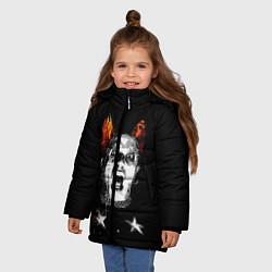 Куртка зимняя для девочки The Prodigy: Keith Flint цвета 3D-черный — фото 2