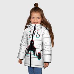 Куртка зимняя для девочки ЪУЪ СЪУКА КАЧОК цвета 3D-черный — фото 2