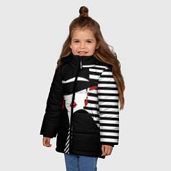 Детская зимняя куртка для девочки с принтом Fashion, цвет: 3D-черный, артикул: 10180623106065 — фото 2