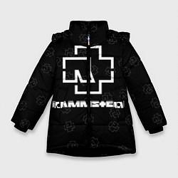 Куртка зимняя для девочки Rammstein 1 цвета 3D-черный — фото 1