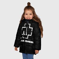 Куртка зимняя для девочки Rammstein 1 цвета 3D-черный — фото 2