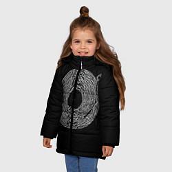 Детская зимняя куртка для девочки с принтом Joy Division, цвет: 3D-черный, артикул: 10183424106065 — фото 2