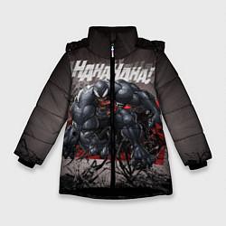 Куртка зимняя для девочки Laughing Venom цвета 3D-черный — фото 1