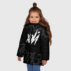 Куртка зимняя для девочки Сектор Газа - ХОЙ цвета 3D-черный — фото 2