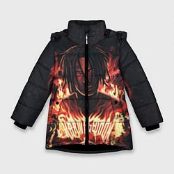 Куртка зимняя для девочки KIZARU - Karmageddon цвета 3D-черный — фото 1