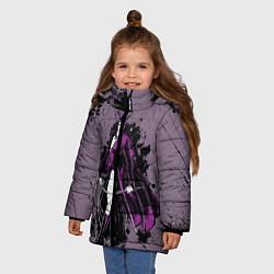 Куртка зимняя для девочки Catwoman цвета 3D-черный — фото 2