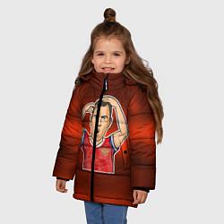 Куртка зимняя для девочки Дзюба Russia edition цвета 3D-черный — фото 2