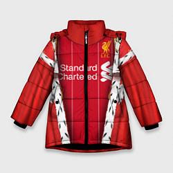 Куртка зимняя для девочки King liverpool цвета 3D-черный — фото 1