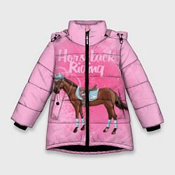 Куртка зимняя для девочки Horseback Rading цвета 3D-черный — фото 1