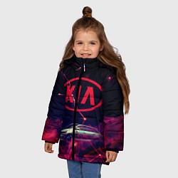 Куртка зимняя для девочки КIA цвета 3D-черный — фото 2