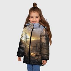 Куртка зимняя для девочки Сталкер цвета 3D-черный — фото 2